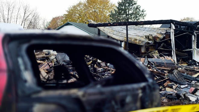 Fire destroyed this two-story home on Bentz Mill Road in Washington Township the night before Thanksgiving.