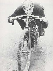 """Erwin G. """"Cannonball"""" Baker won the 10-mile national"""