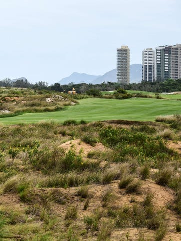 View of the golf course on Tuesday for the Rio 2016