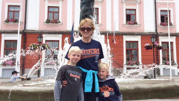 Rosalee Tithof of Saginaw and  her 2 grandsons, Truman,