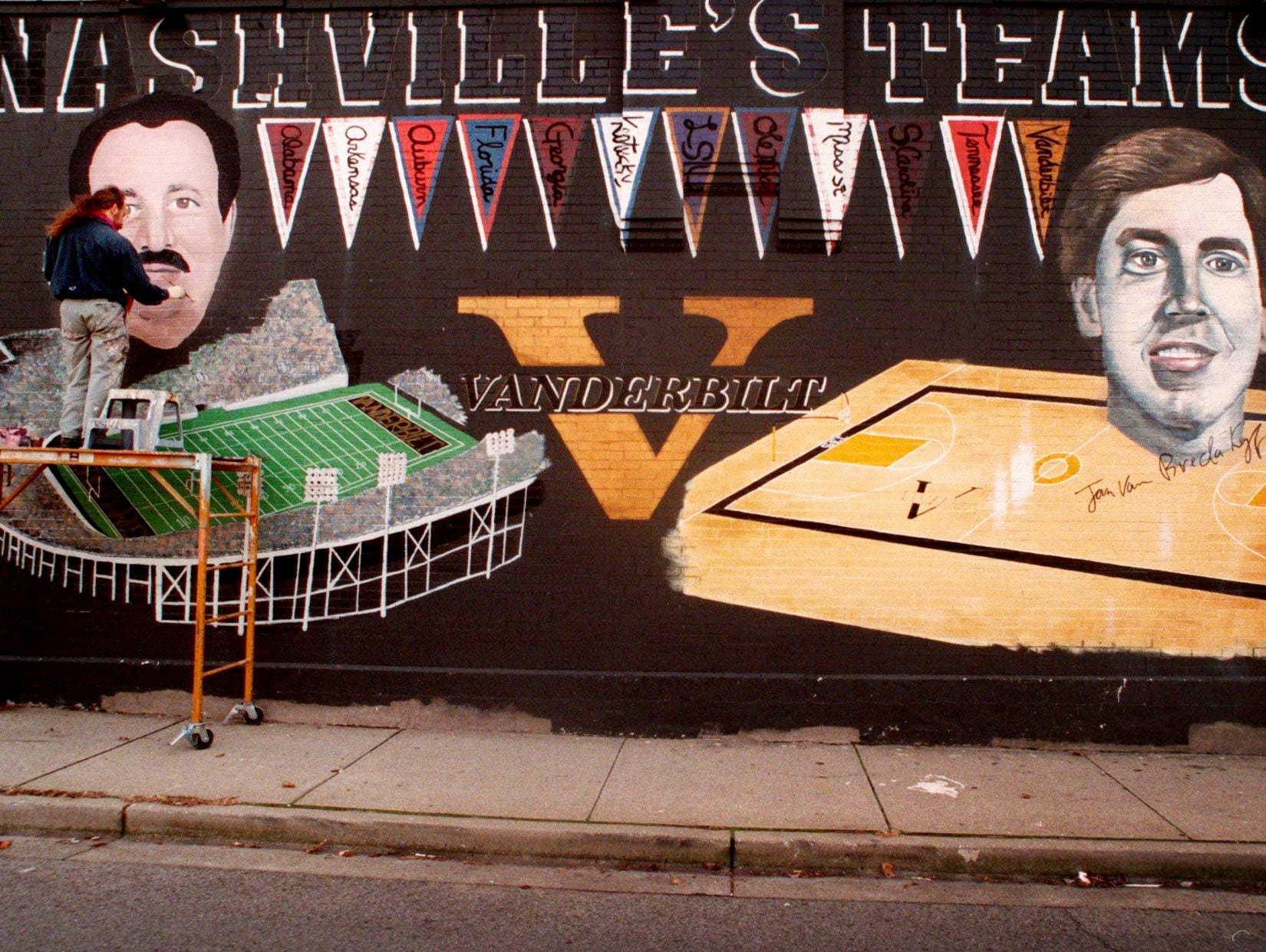 In 1996 Michael Cooper painted football coach Woody Widenhofer on the Vanderbilt mural on the wall of the building, which at the time was occupied by You Greek Me Greek.