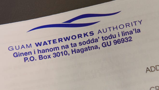An envelope containing a utility statement from Guam Waterworks Authority.
