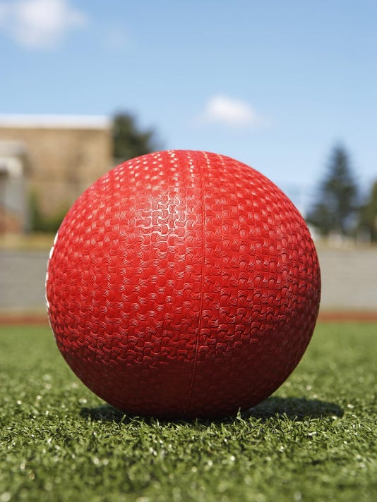 Ball on artificial turf, ground view