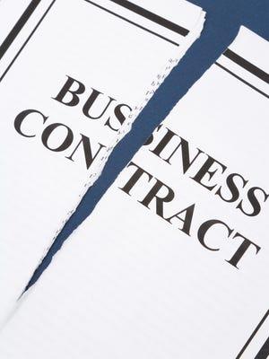 A broken business contract