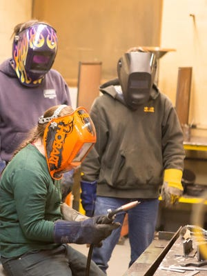 Adults can take many classes at Burlington Technical Center, including welding, Italian, Excel and digital photography.
