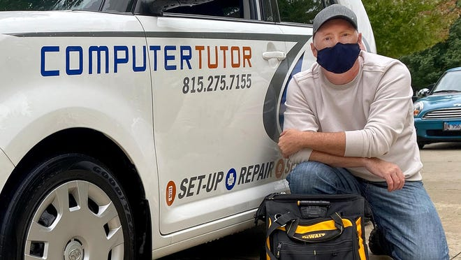 Edward Alderman said his Computer Tutor business has boomed now that more people are working from home during the COVID-19 pandemic.