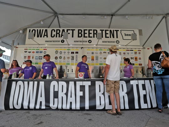 The Iowa craft beer tent at the Des Moines Arts Festival
