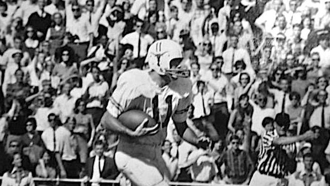 Lubbock native Greg Lott during his time as a quarterback on the University of Texas at Austin football team.