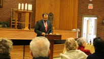 Nearly 100 people attend a United Faiths of America event at the Central Unitarian Church in Paramus.