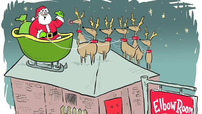 FROM THE ARCHIVE: Elbow Room Christmas cartoon