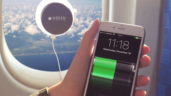 The Solar Phone Charger makes use of the sun's rays