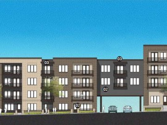 The Dickerson Pike elevation of The 900 project planned