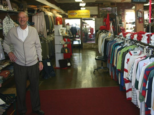 Charlie Barranco in his store at 32 N. Main St. in 2013.