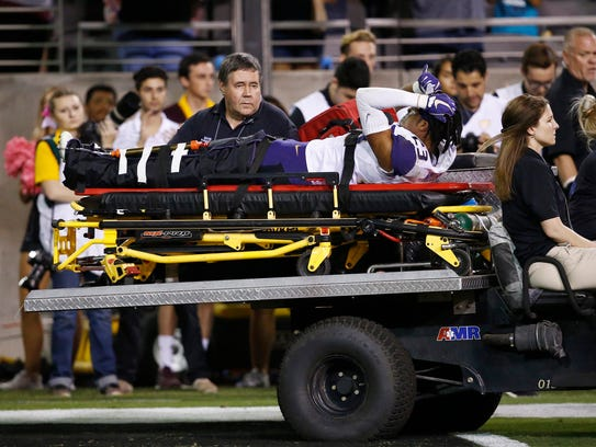 Washington defensive back Jordan Miller broke an ankle during Saturday's loss to Arizona State and will miss the remainder of the season. Washington tackle Trey Adams suffered an ACL tear and also is out for the season.