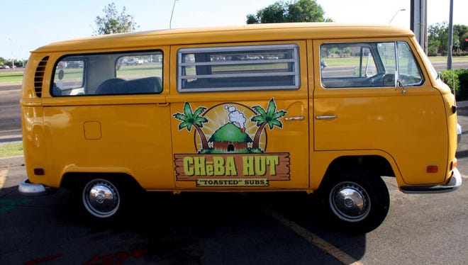 """Cheba Hut Subs tweets: """"We are the only franchise that requires our franchisees to have a vw bus!"""""""