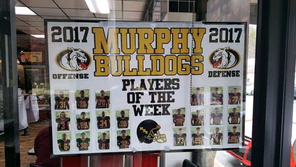 The Waffle King displays its Players of the Week at