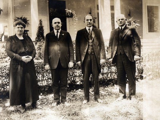 Marie Bankhead Owen with her brothers, John, William and Henry Bankhead, ca 1910. 20 years later, she would serve as the second director of the Alabama Department of Archives and History.