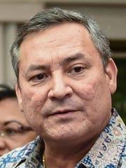 This composite image shows Gov. Eddie Calvo, left, and Vice Speaker Benjamin Cruz, right.