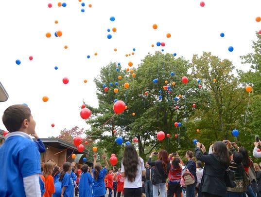 Balloon release in Tenafly