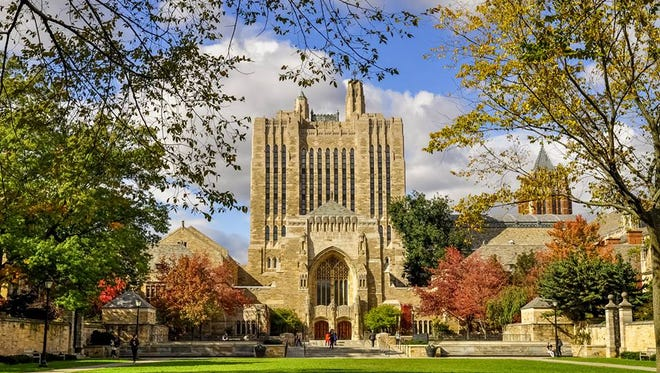 Sterling Memorial Library on the Yale University Campus.