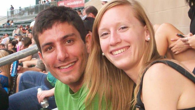 Nathan Trapuzzano and his wife, Jennifer.