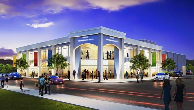 Future design of the Carteret Performing Arts Center on Washington Avenue.