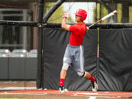 Marco Ramos, trying out for the UL baseball team, is a singles hitter who plays with passion.