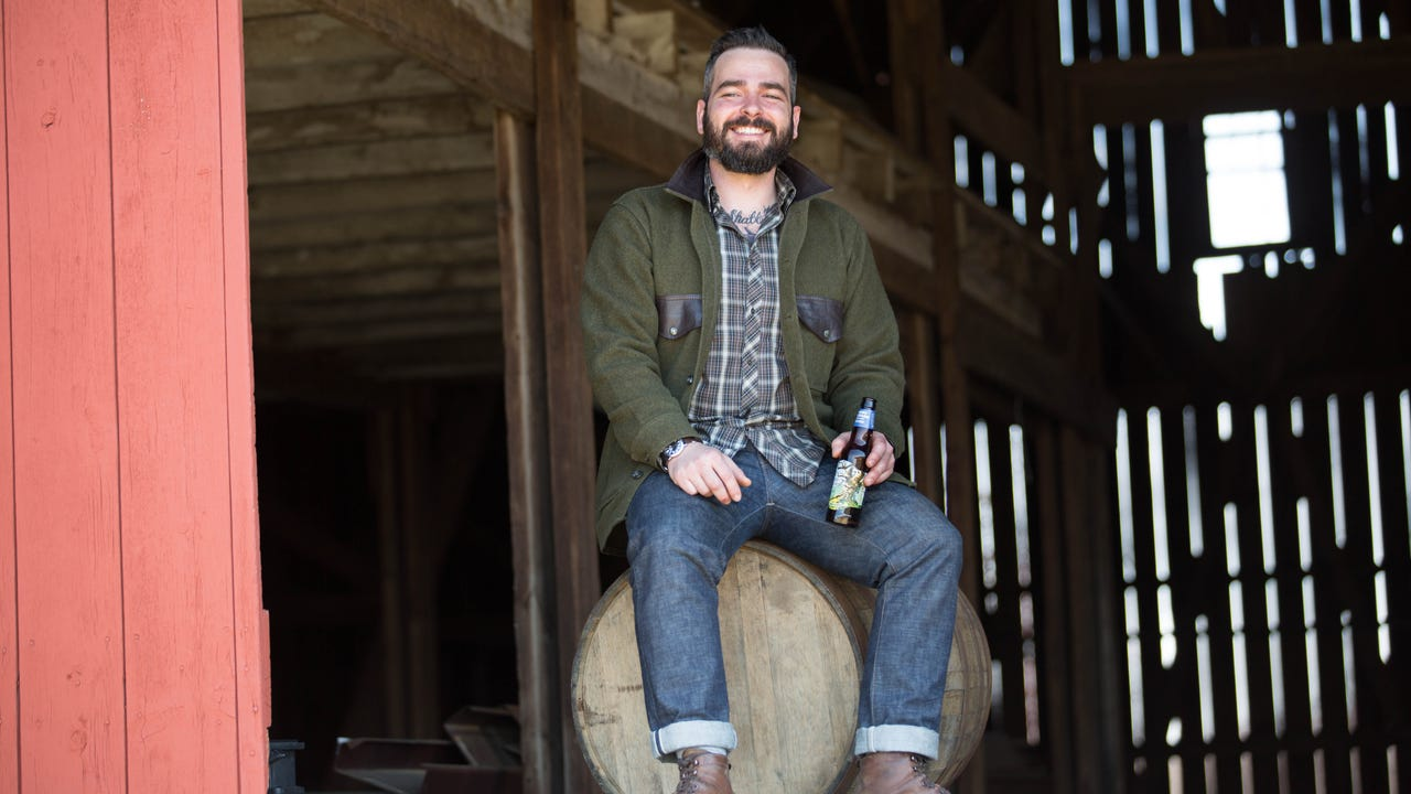 Ryan Burk, a Wayne County native, is the head cider maker at America's largest cider producer. (Sept. 5, 2017)