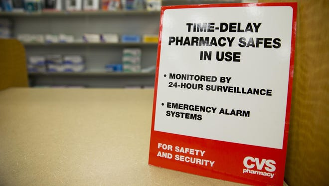 Indiana leads the nation in the number of pharmacy robberies, the U.S. Drug Enforcement Administration says. CVS has begun using a time-delay safe system in its drugstores in the state to help curb such crimes.