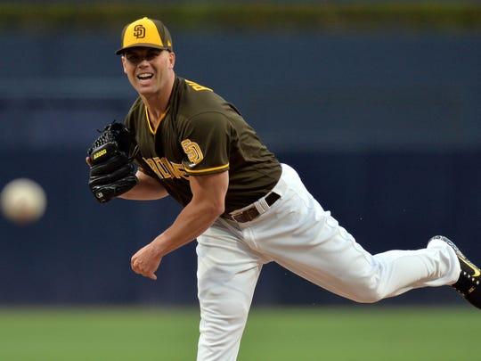 San Diego Padres starting pitcher Clayton Richard
