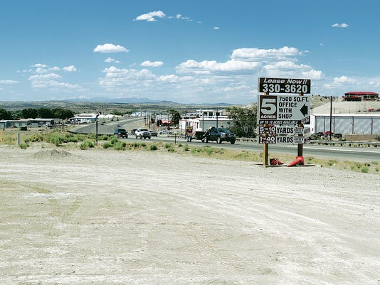 Shown is the site of the Microtel Inn & Suites in Aztec in 2012 before construction started.