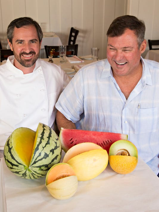 Chef Kevin Binkley and farmer Pat Duncan