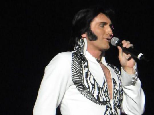 Tribute artist for Elvis Presley.