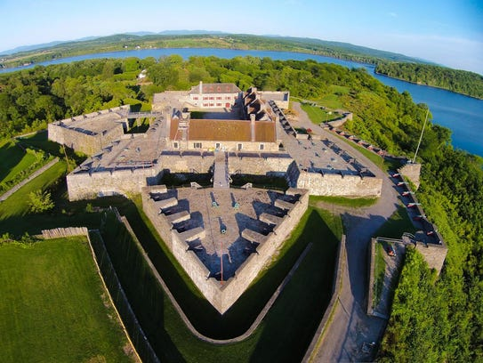 Fort Ticonderoga, a large 18th-century star fort built