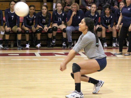 Silver's Zoe Abeyta tallied 75 digs in five games against