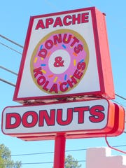 The Apache Donuts sign  acts as a beacon in the early