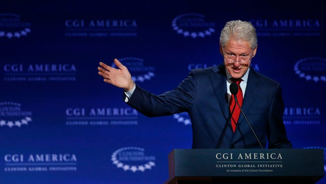 Former President Bill Clinton speaks at the annual gathering of the Clinton Global Initiative America, which is a part of The Clinton Foundation, in 2015.