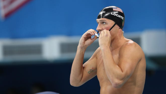 Ryan Lochte during the men's 200-meter individual medley final.