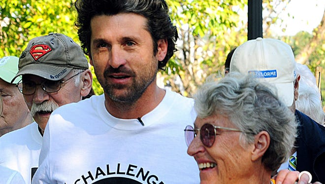Actor Patrick Dempsey with his mother, Amanda, who inspired her son to help create a cancer support organization at Central Maine Medical Center.