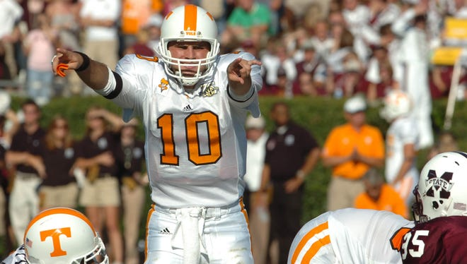 Erik Ainge twice played in a two-quarterback system in a season opener at Tennessee.