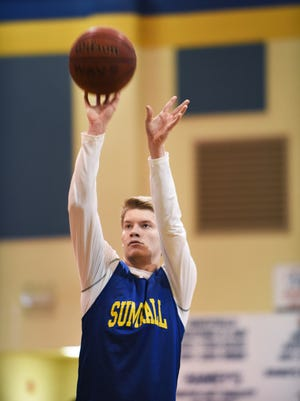 Sumrall junior Ryan McRaney leads the Bobcats in scoring with 18.0 points per game.