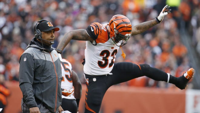 Marvin Lewis doesn't quite understand Jeremy Hill's touchdown dances, but admits that the running back is good at them.