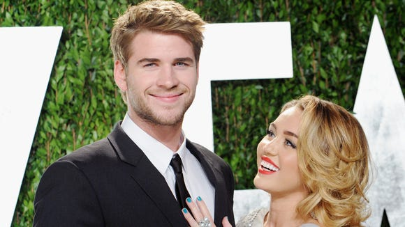 Miley and Liam in happier times.