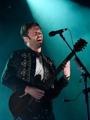 Caleb Followill of Kings of Leon performs at First