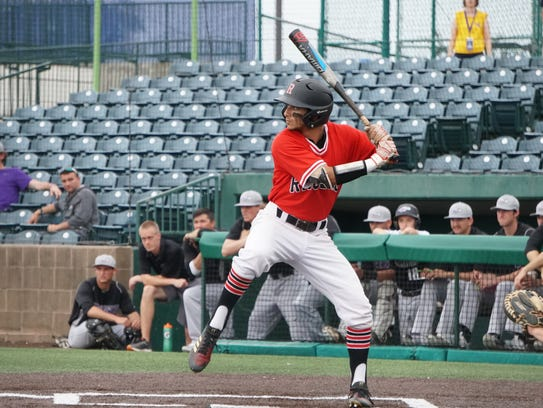 Rhodes CF Paul Giocomazzi led the Lynx in batting average