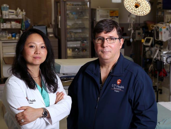Surgeons Dr. Lillian Liao (left), Pediatric Trauma