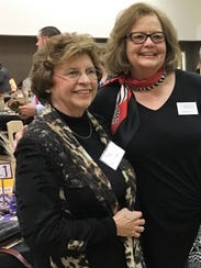 Ellie Hamby, right, with Sandra Hazelip at an event