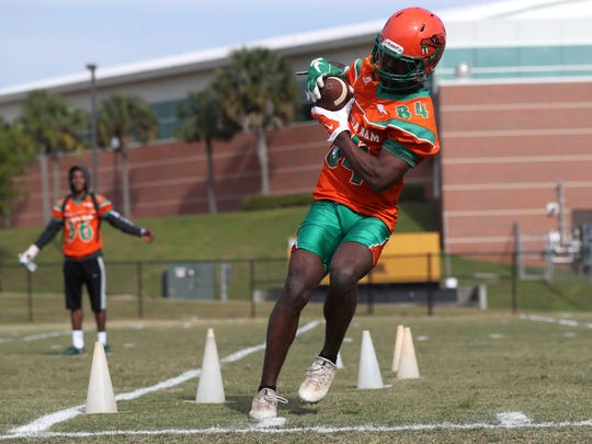 FAMU holds the second day of their spring practice at the university on Friday, March 23, 2018.