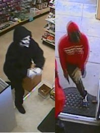 Two men wearing masks allegedly robbed Beaty Mart on Nov. 10.