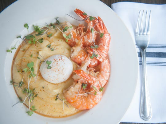 Shrimp and Castle Valley grits, and poached egg, is well executed at Jerry's Bar.